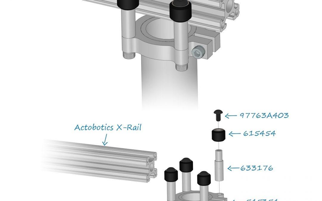 Idee da costruire: tubo verticale su guida X-rail